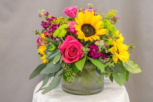 Tumalo - $69.00 sunflowers and roses