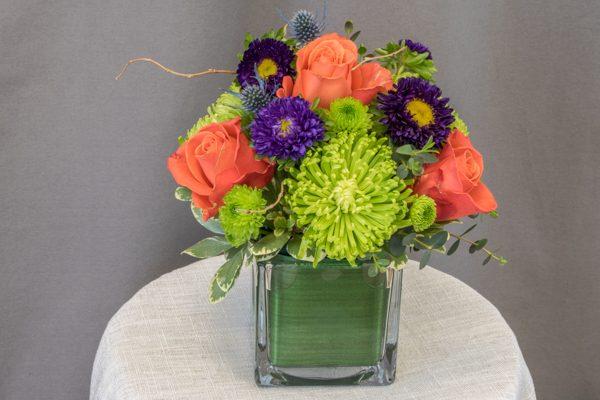 Sunriver - $39.00 spider mums with 4 orange roses