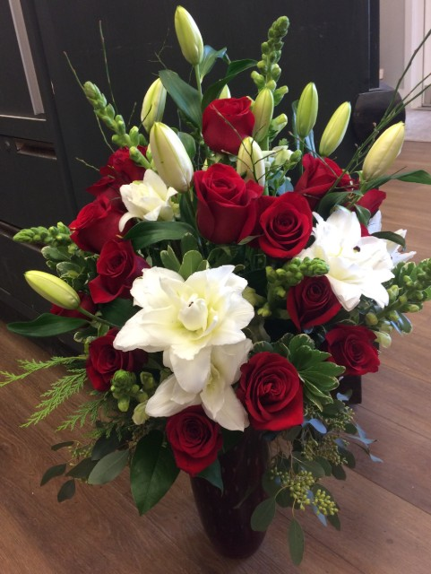 Stunning Rose and Lily Bouquet