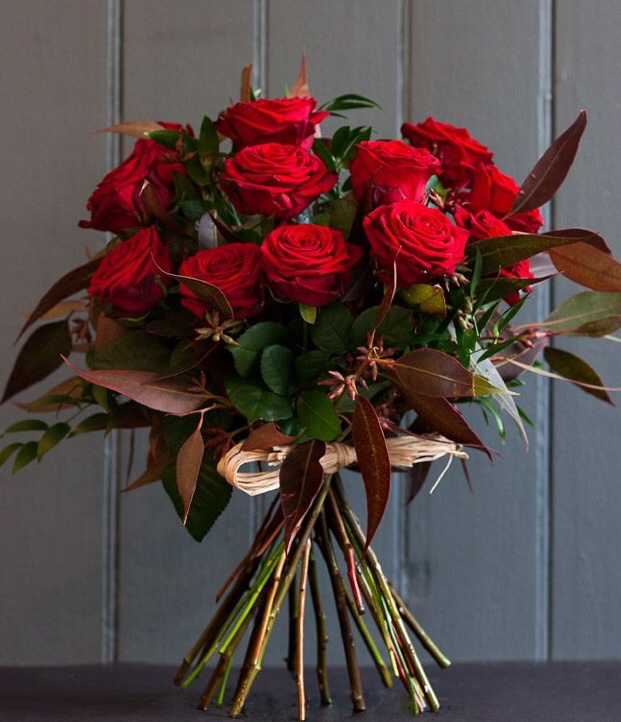 Dozen Red Roses in a Wrap