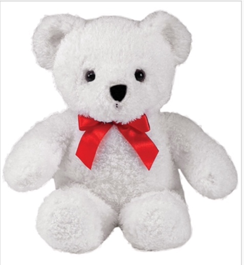 Adorable White Plush Bear